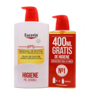 eucerin ph5 oleogel de ducha 1000 ml 400 ml